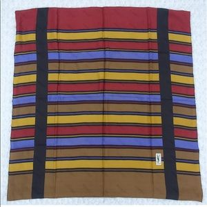 Yves Saint Laurent multicolored silk scarf